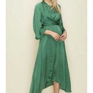 Glam | Green Asymmetrical Dress
